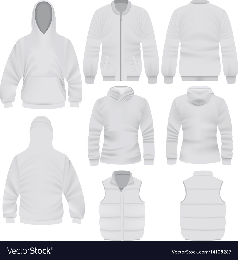 Warm Clothes Mockup Set Realistic Style Royalty Free Vector