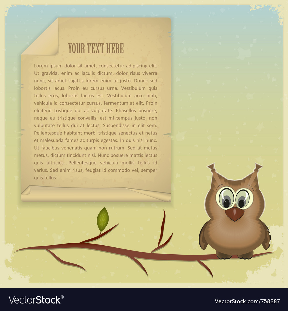 Wise owl background