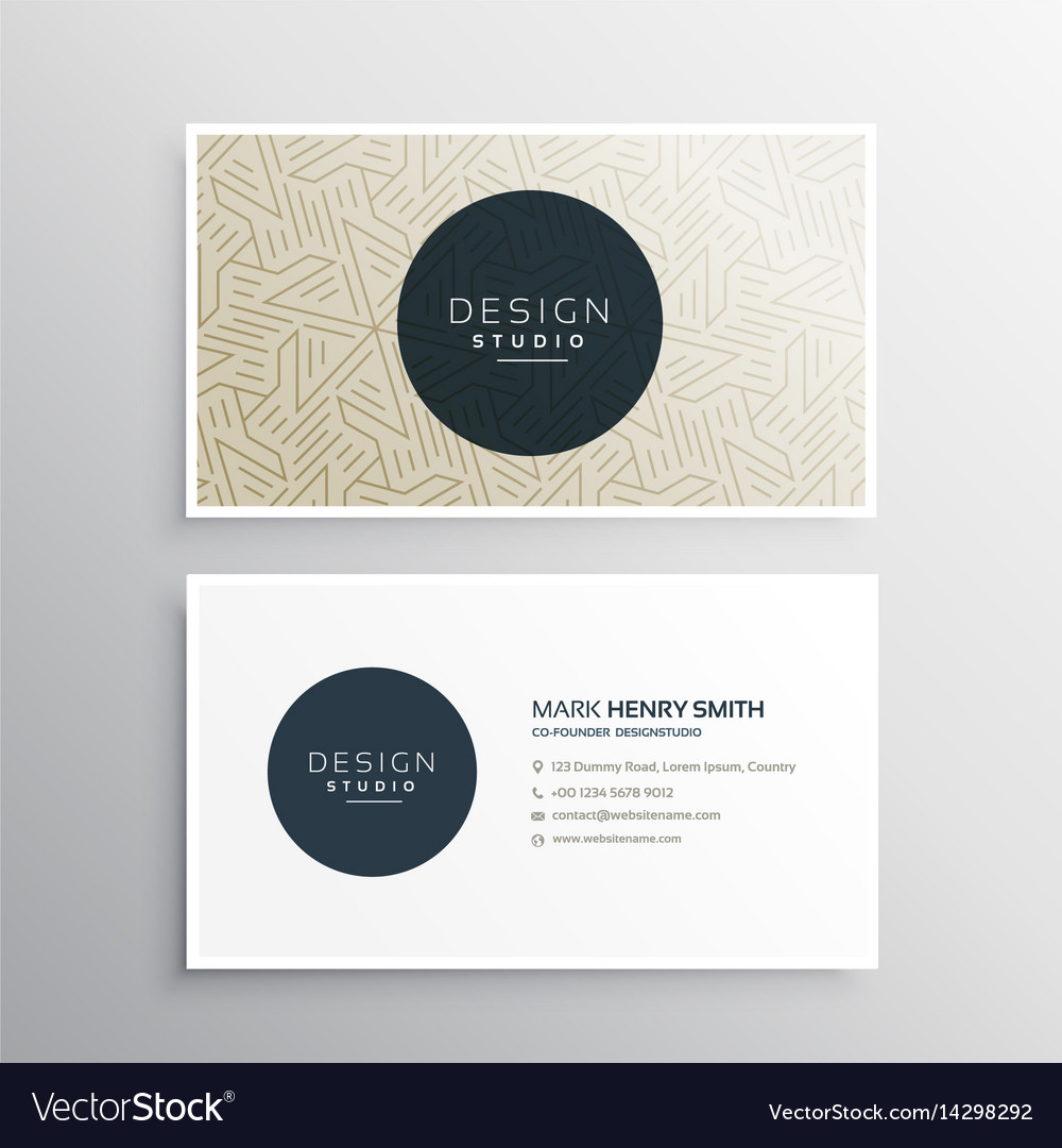 Elegrant Business Company Visiting Card Template Vector Image