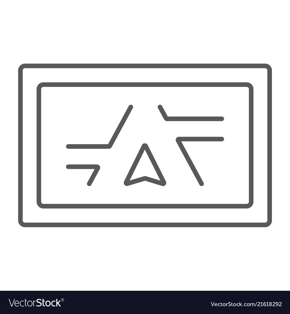 Gps navigator thin line icon electronic device