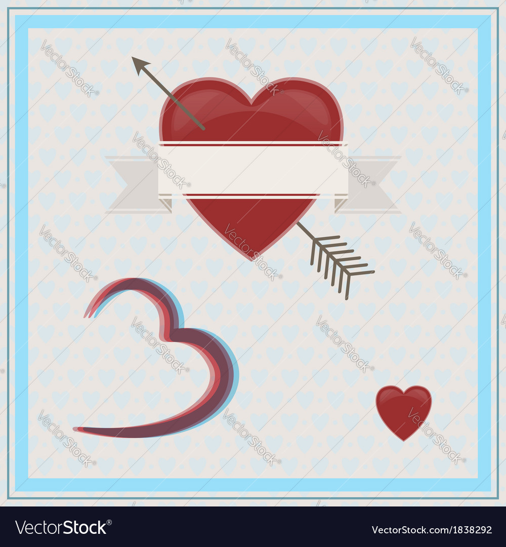 Happy Valentines Day 3d Royalty Free Vector Image