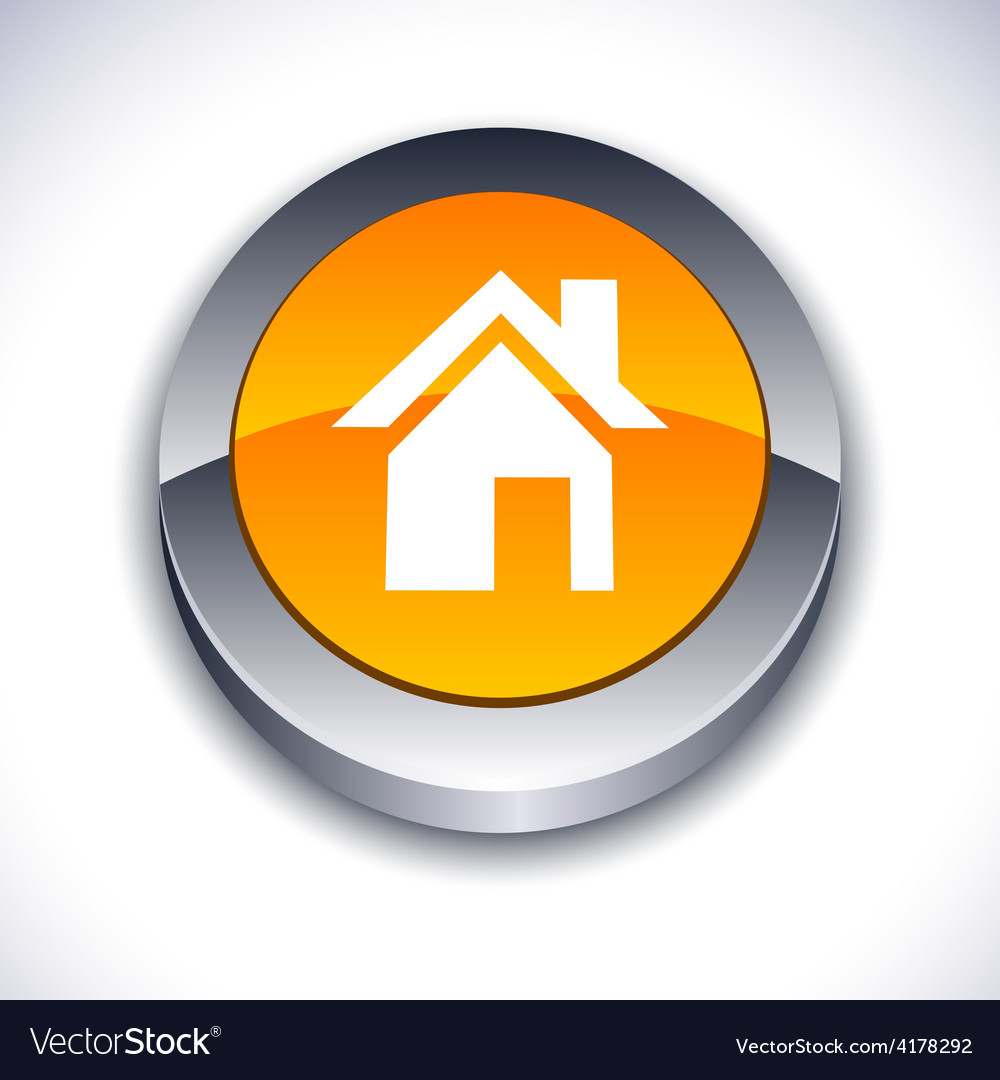 Home 3d Button Royalty Free Vector Image