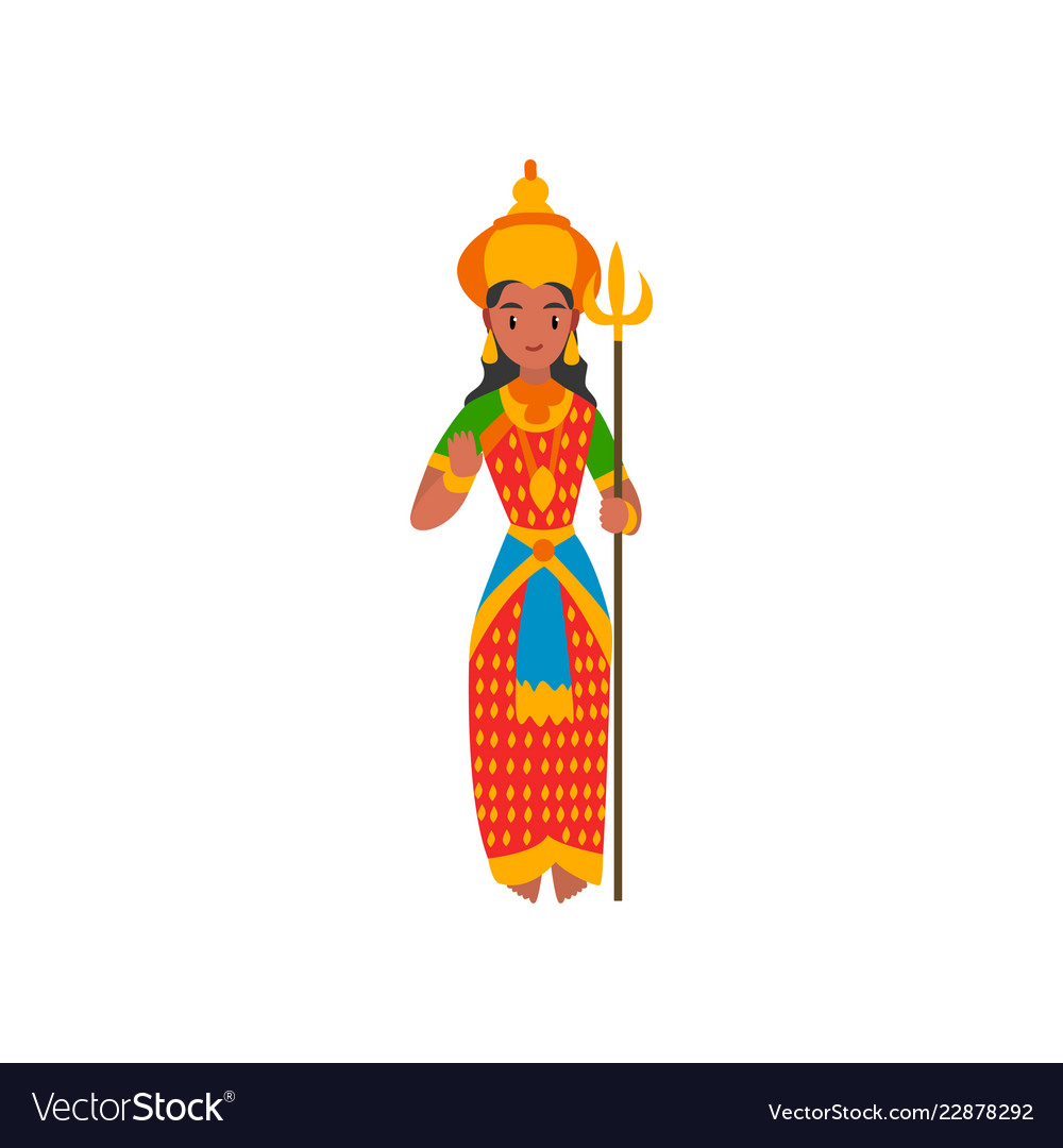Parvati indian goddes on a