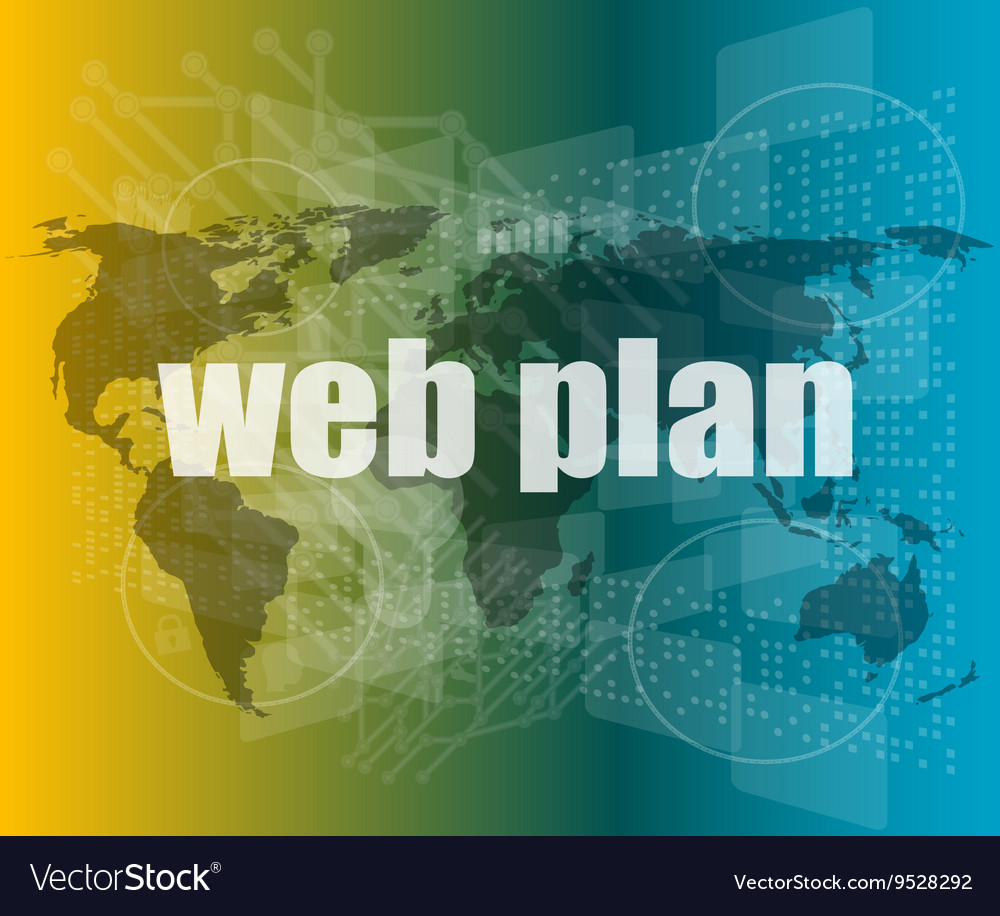 Words web plan on digital touch screen