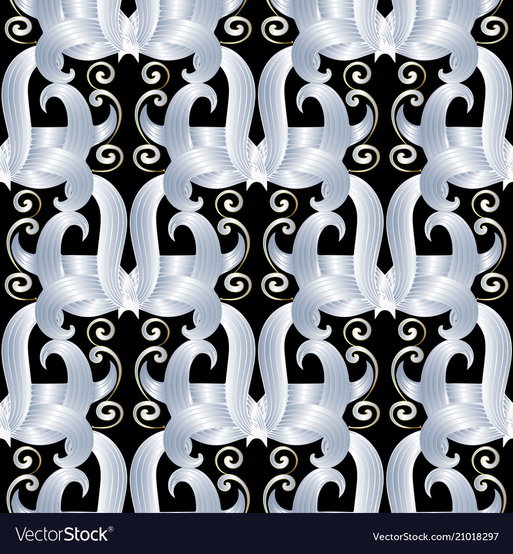 Abstract floral seamless pattern black