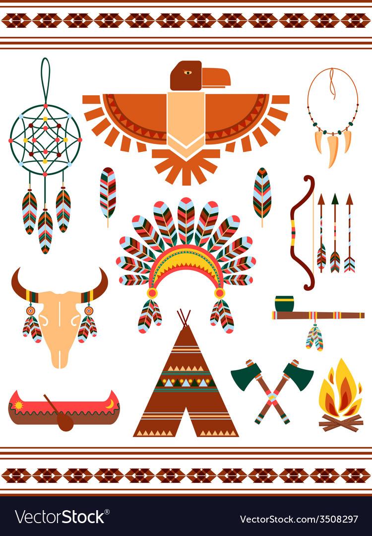 Aztec decorative elements