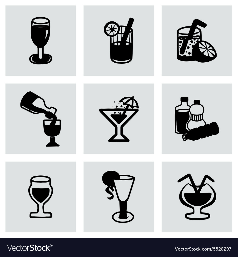 Beverages icon set