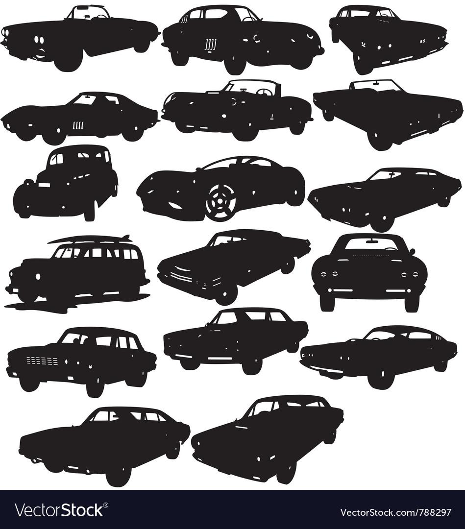 Classic car silhouettes