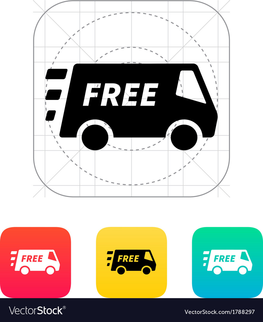 Free delivery service icon
