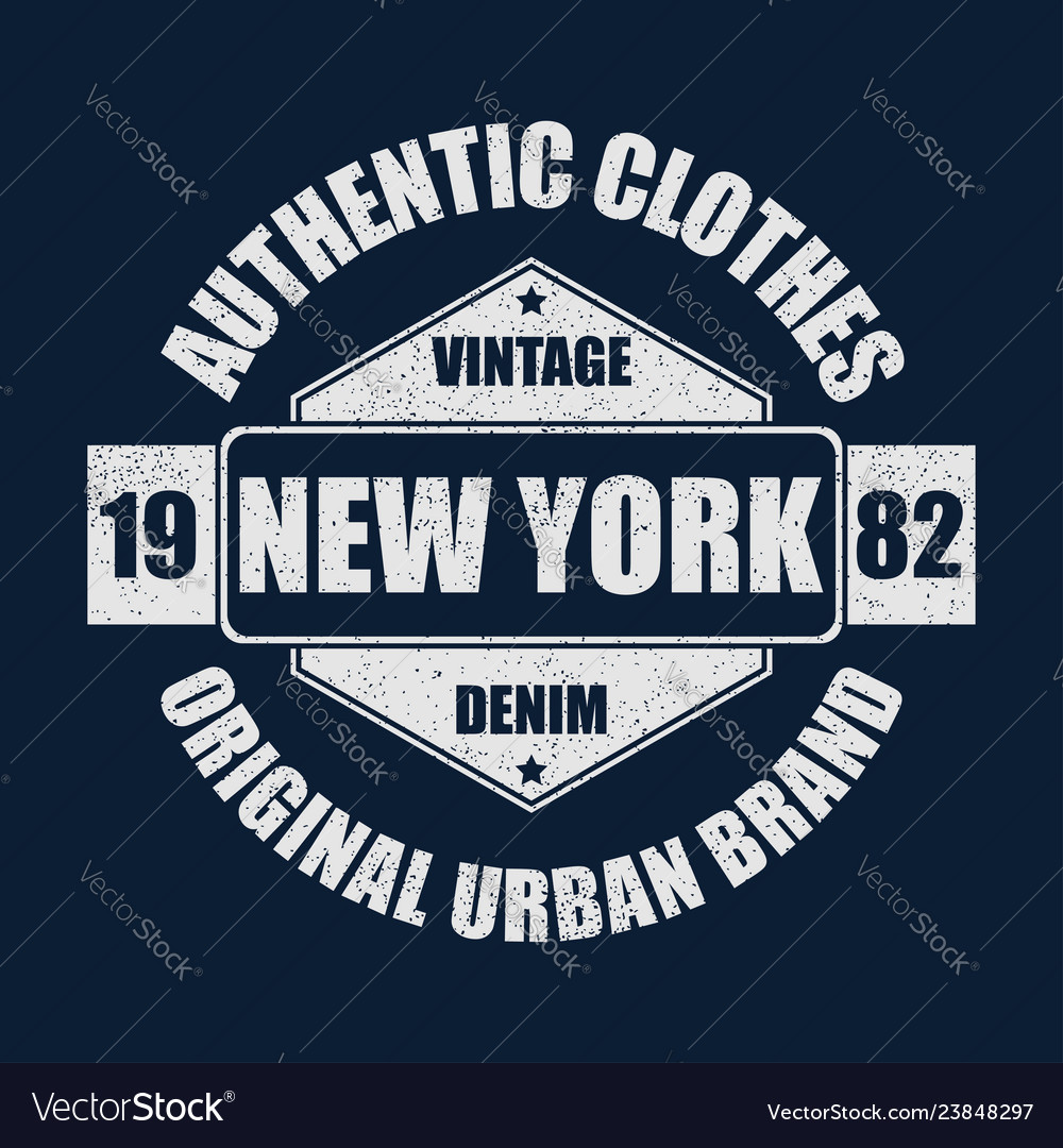 New york vintage brand graphic for t-shirt