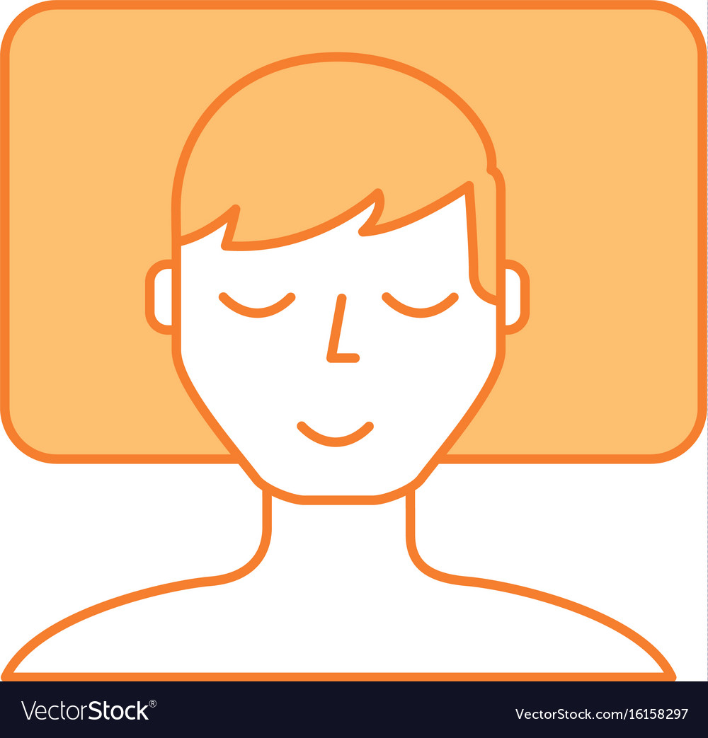 Sleeping man avatar icon