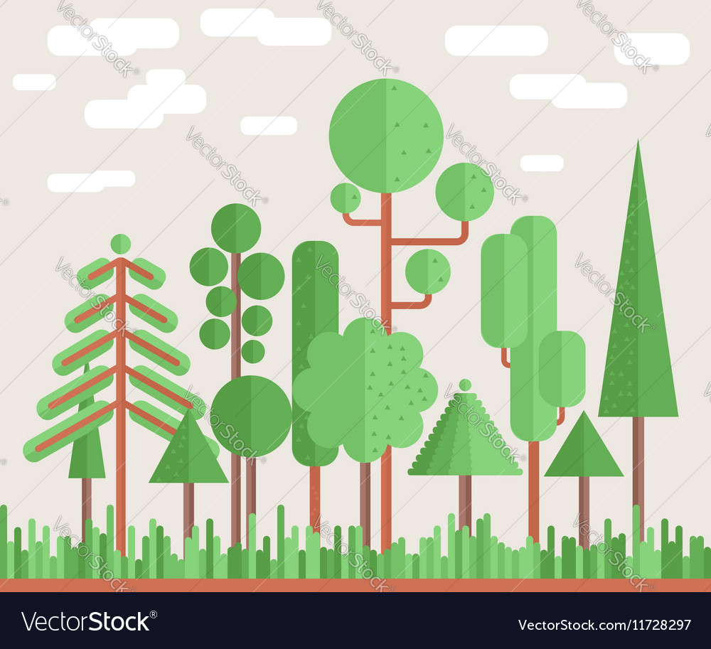 Summer Tree Forest Flat