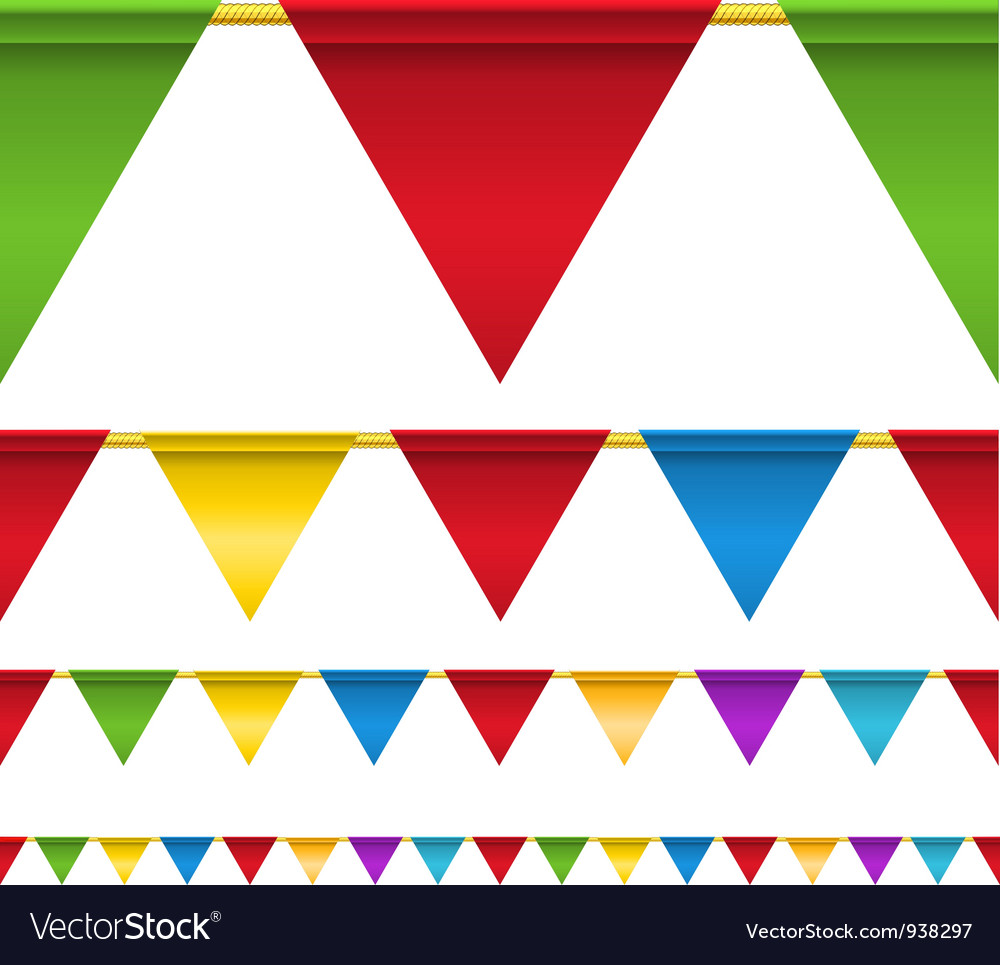 Top Triangle Flag Banners Royalty Free Vector Image MQ78