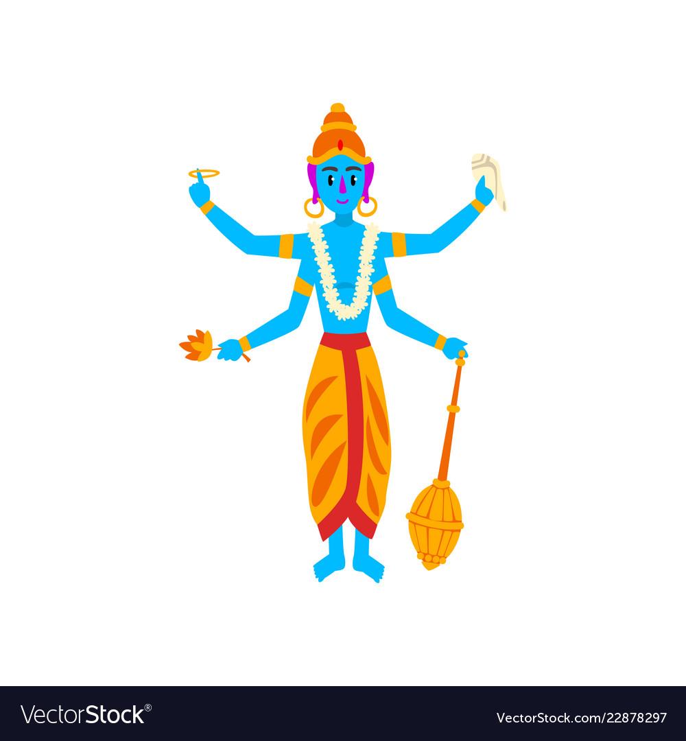 Vishnu indian god guardian of the universe