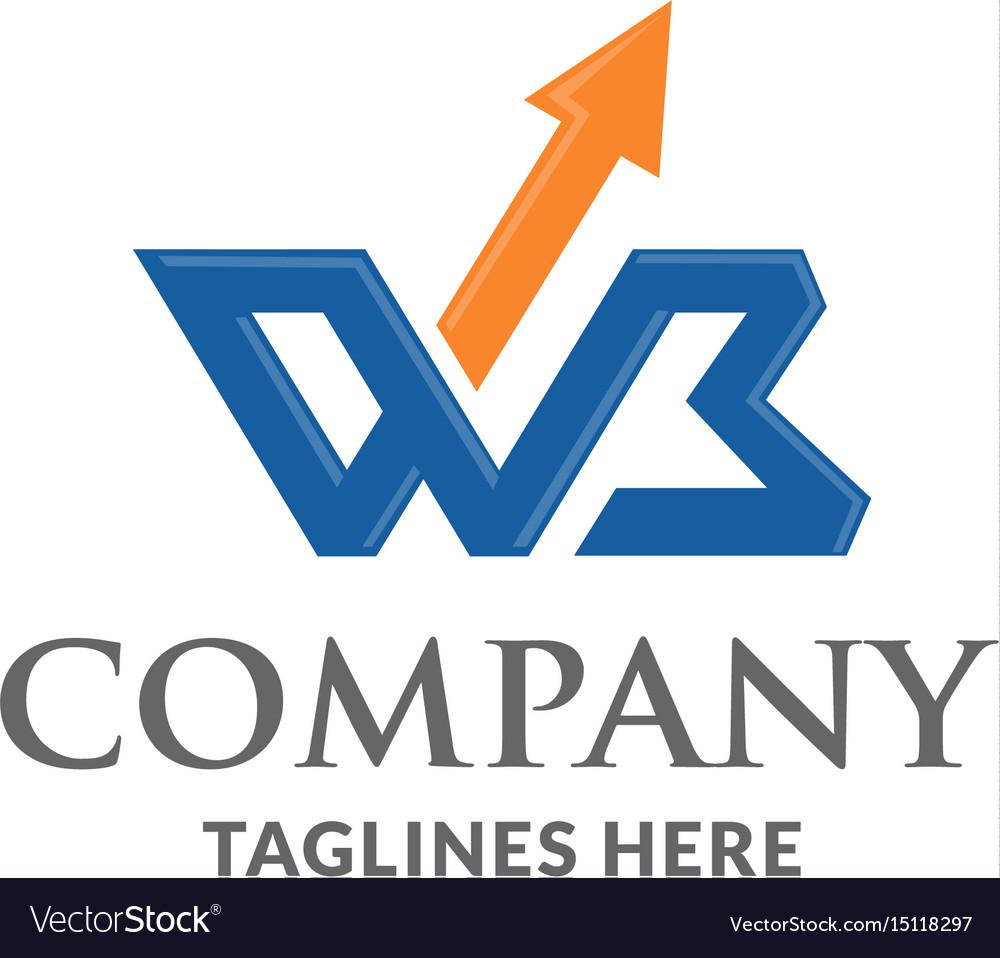 Wb letter logo design template