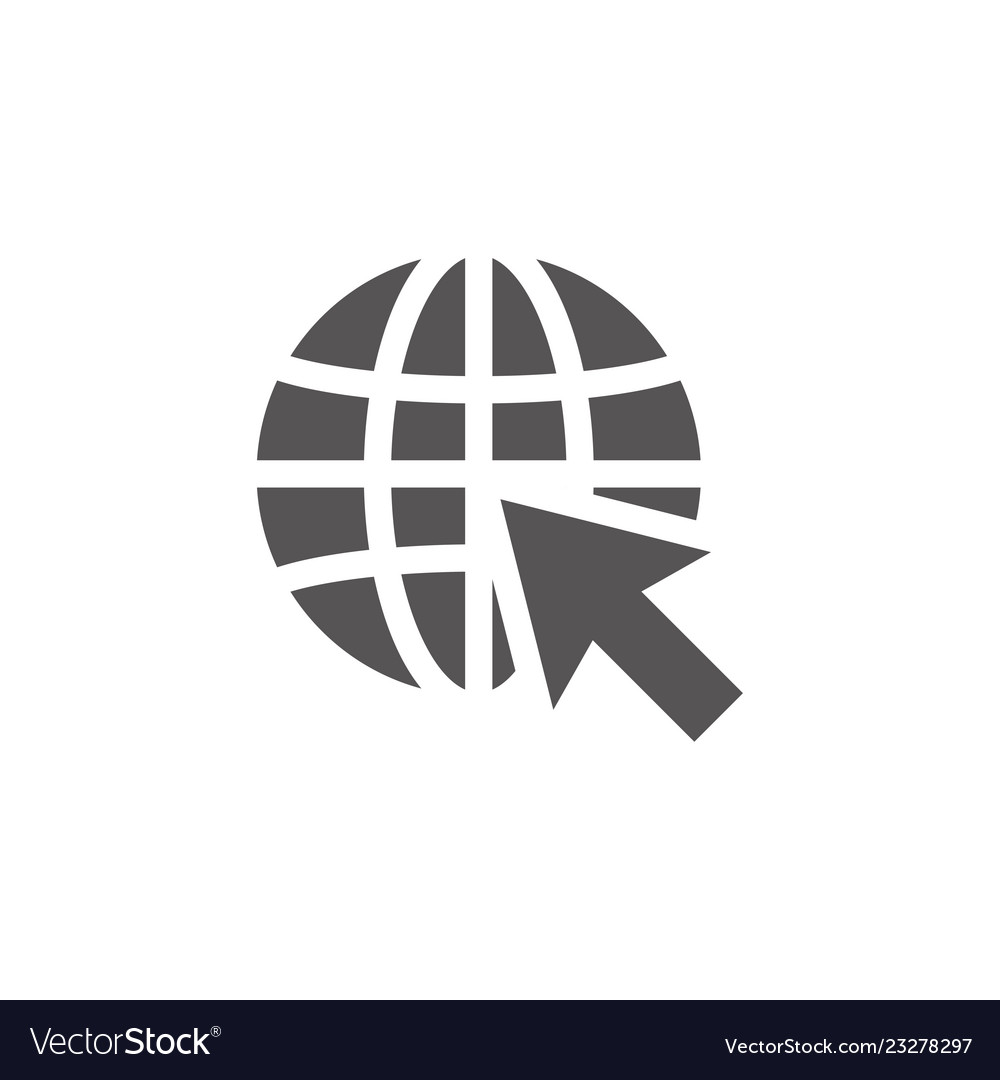 World wide web icon design template
