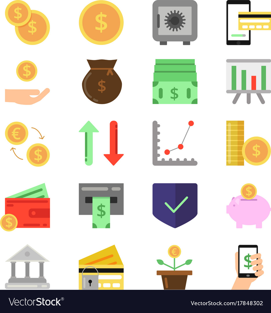 Business and finance icons set b2c and b2b