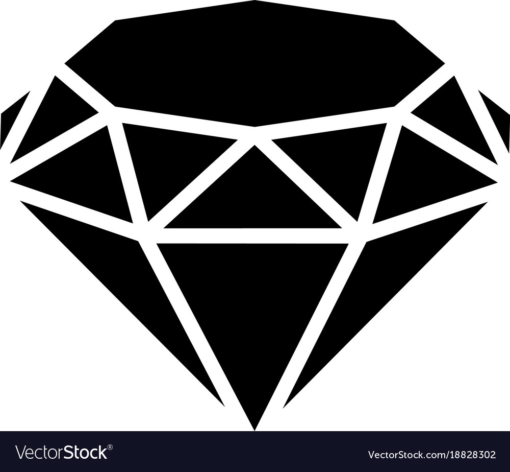 diamond icon simple black style royalty free vector image