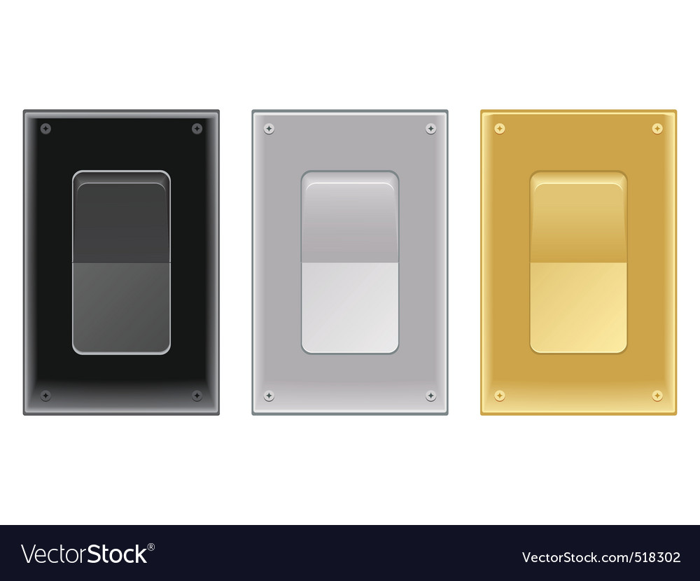 Onoff switches vector image
