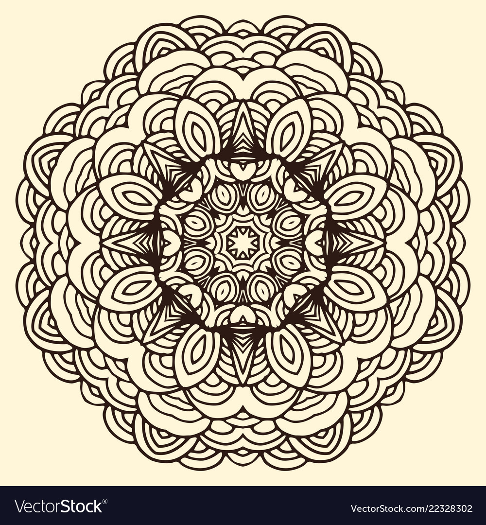 Ornament hand drawn mandala blank
