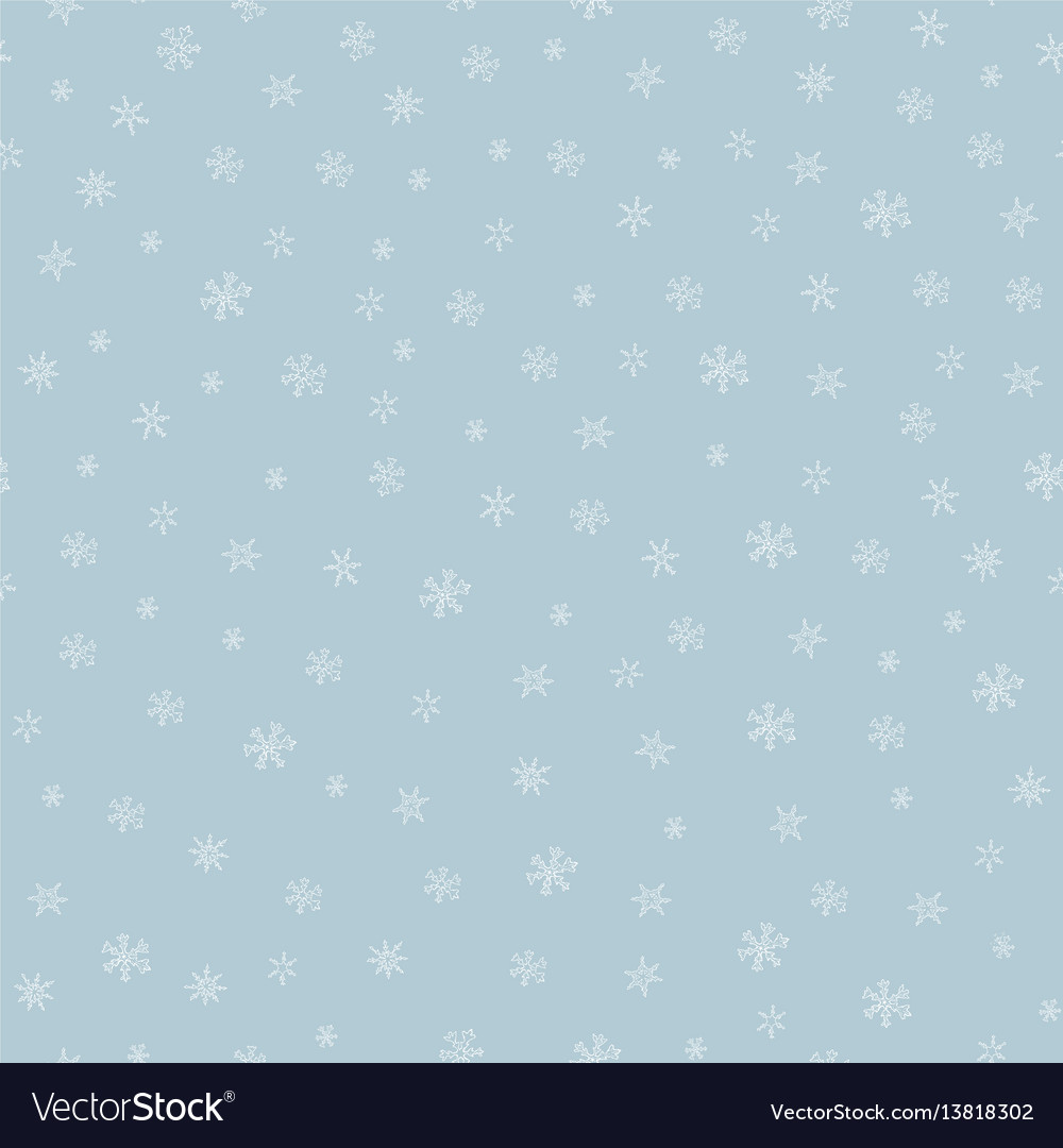 Snowflkes seamless pattern hand drawn