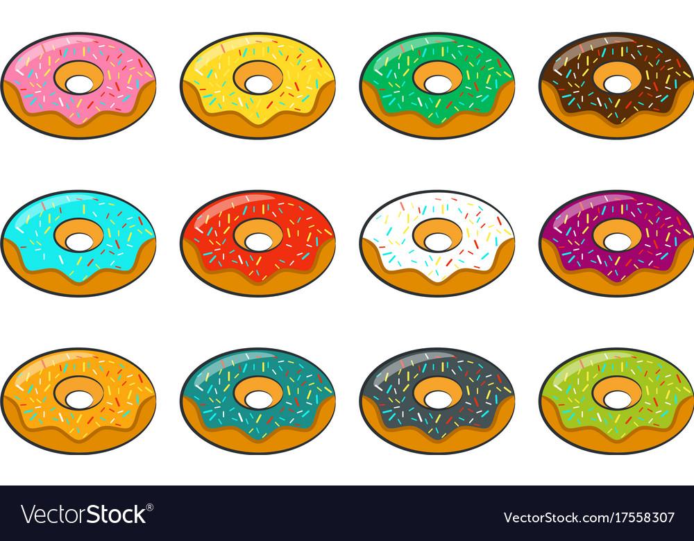 Cartoon donuts
