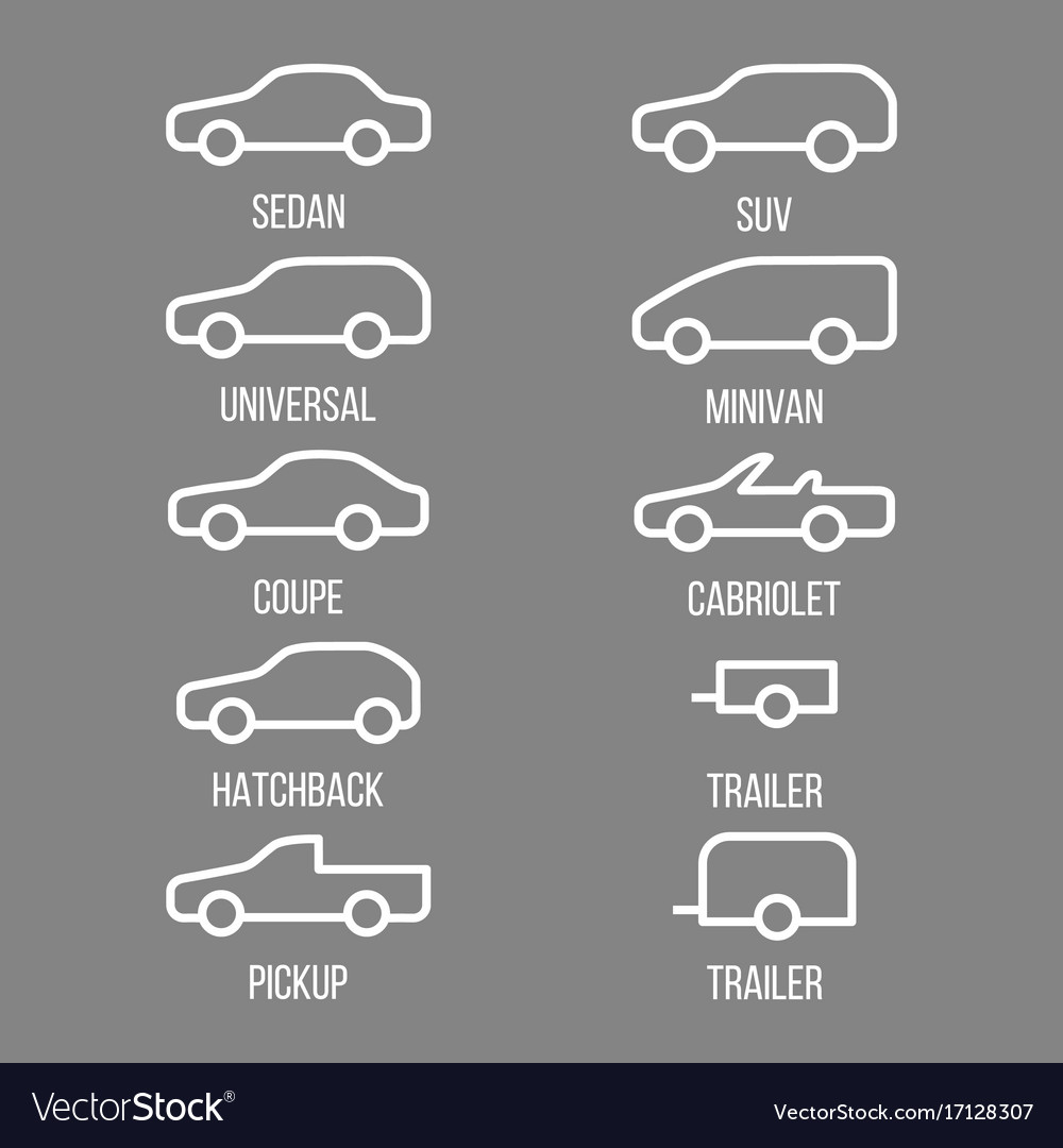 Different types of car body
