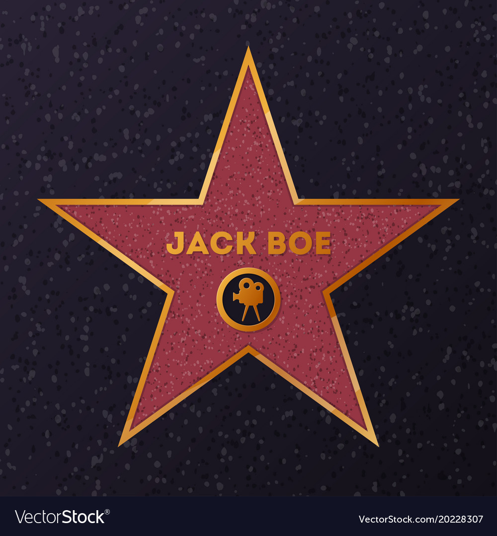 Star with name for honoring actor vector image
