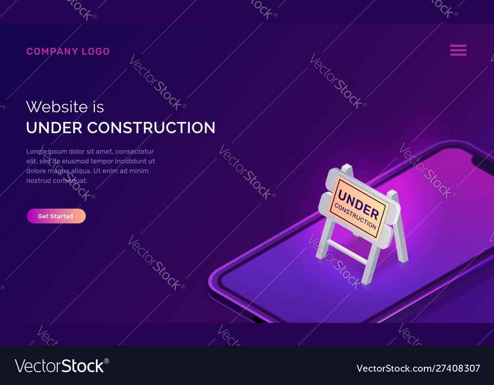 Website under construction maintenance work error