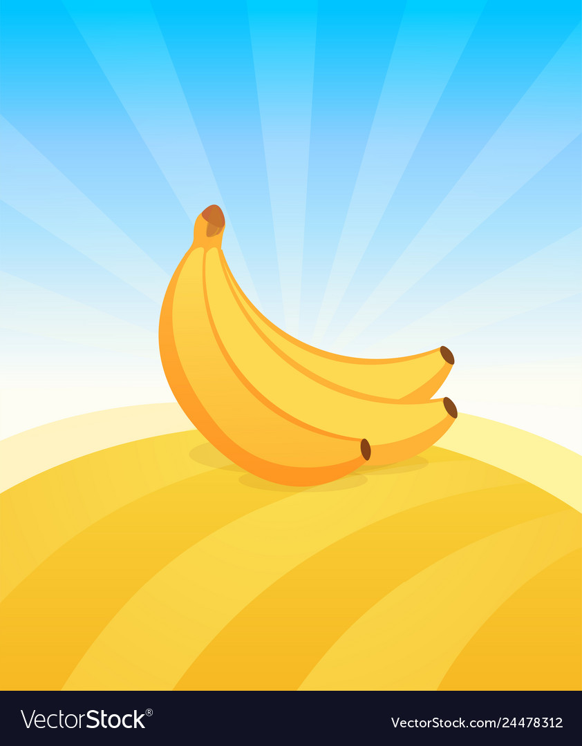 Banner template with banana ads poster with copy