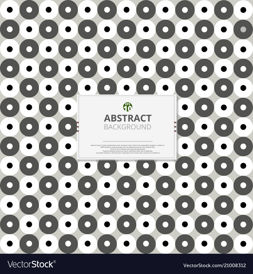 Circle of grey and white pattern background