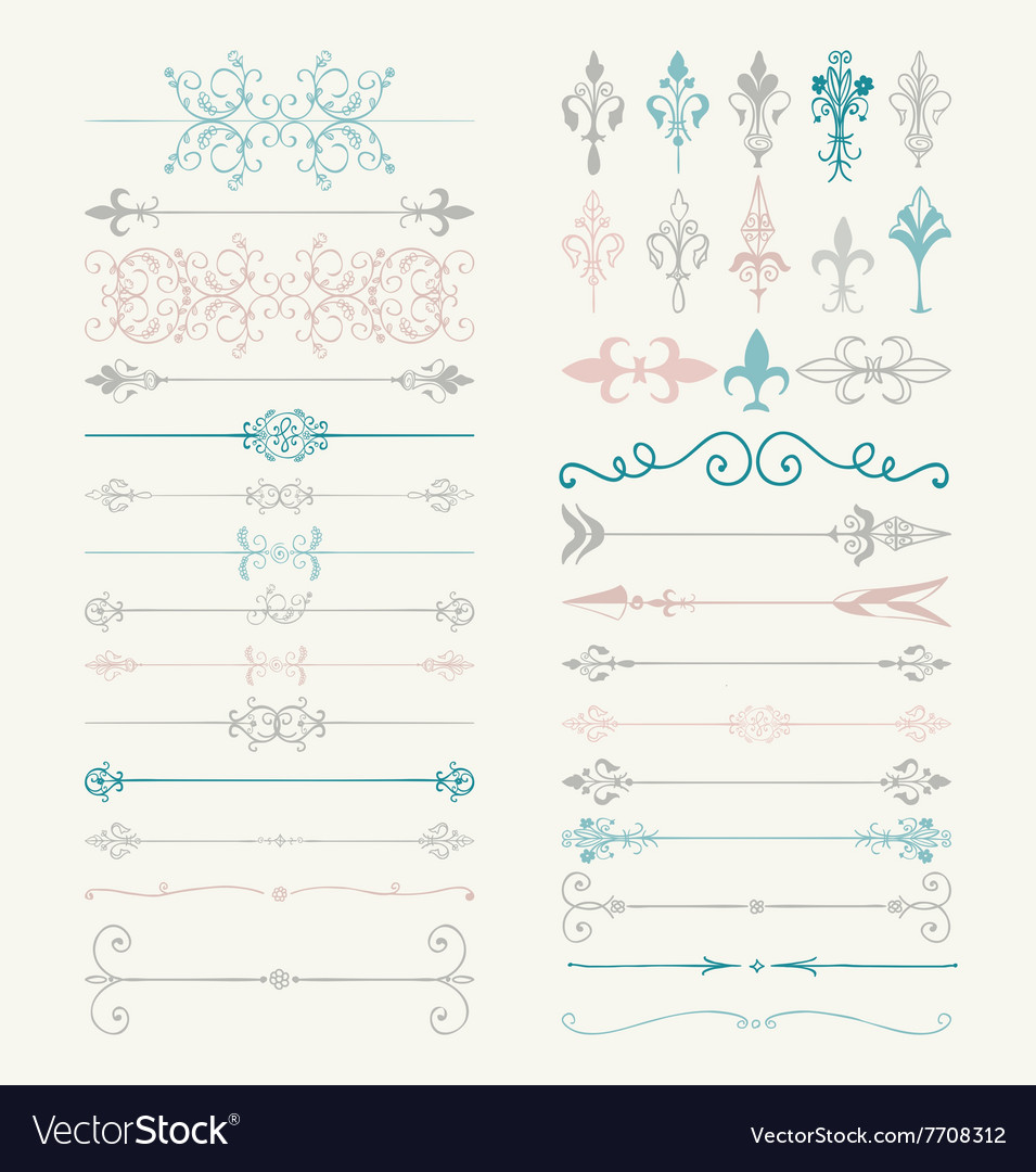 Colorful Hand Drawn Dividers Arrows