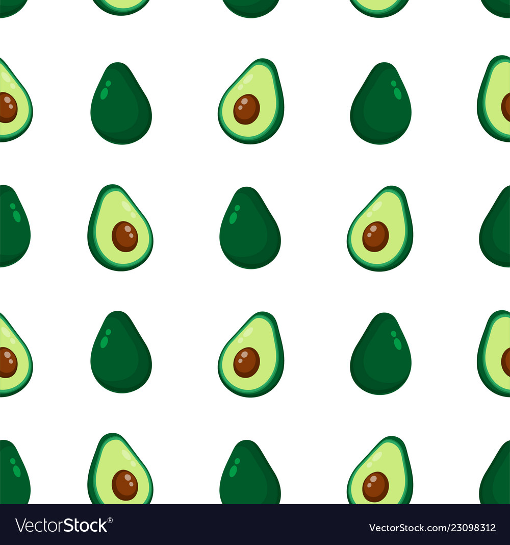 Cute beauty avocado seamless pattern