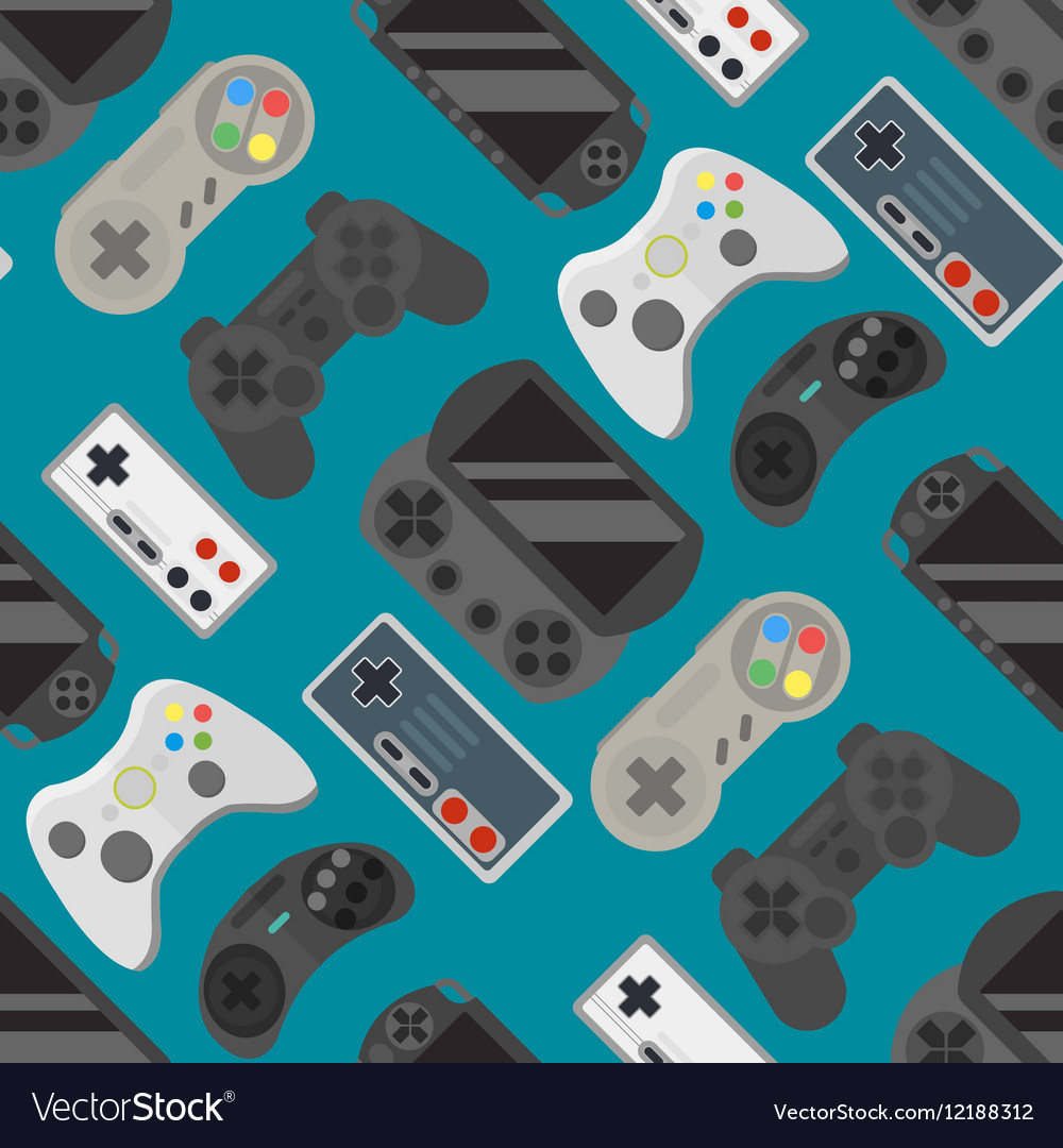 Gamepad colorful seamless pattern