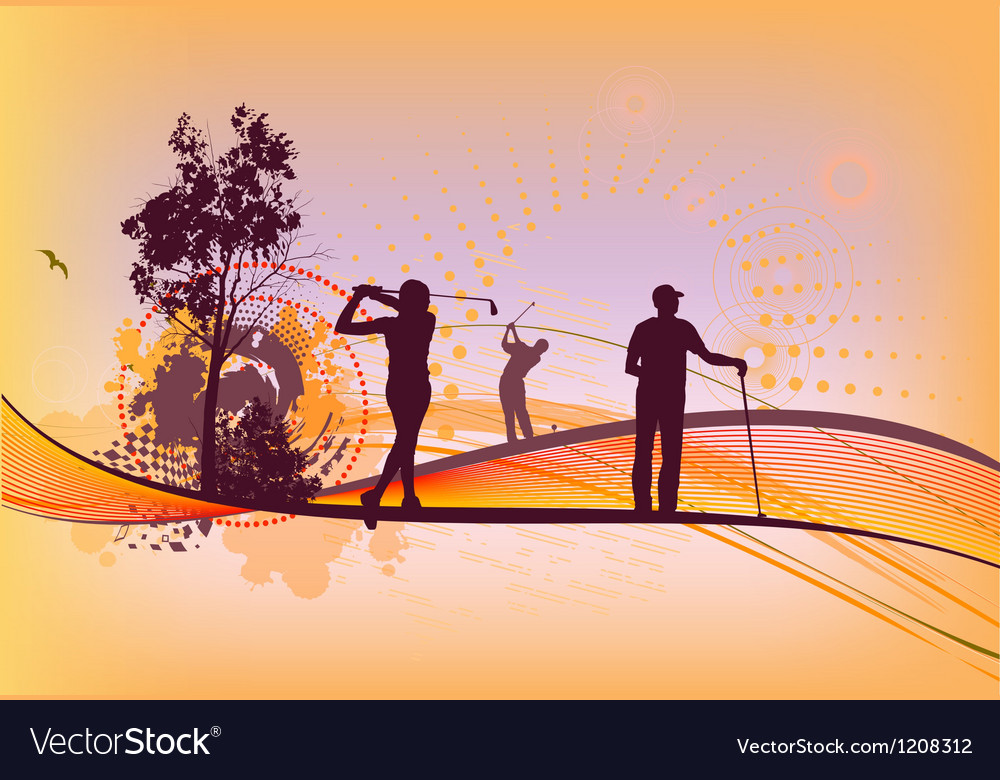 Golf club Silhouettes vector image
