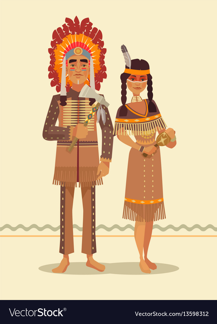 Native american indian couple