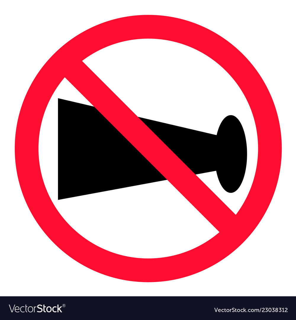 No blowing of horn icon on white background flat vector image