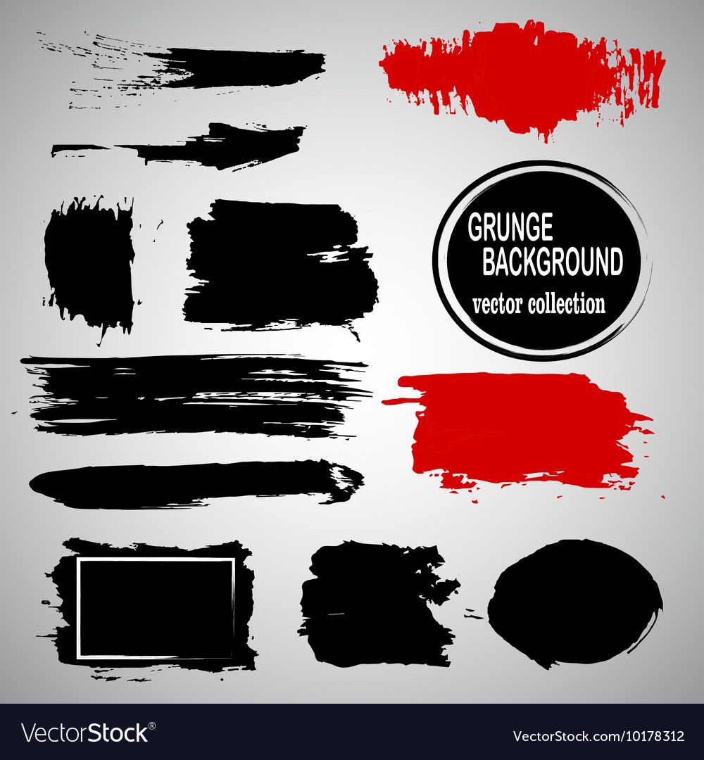 Set of hand drawn brushes and design elements