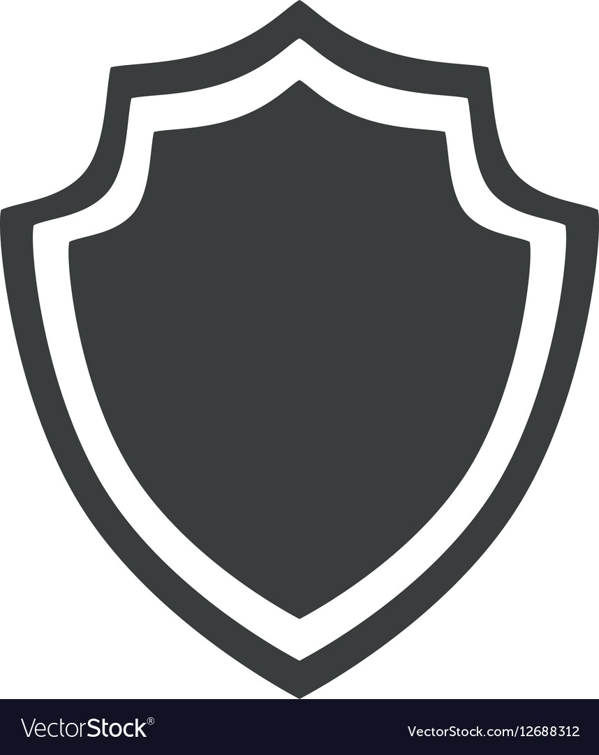Shield protection insignia security badge icon