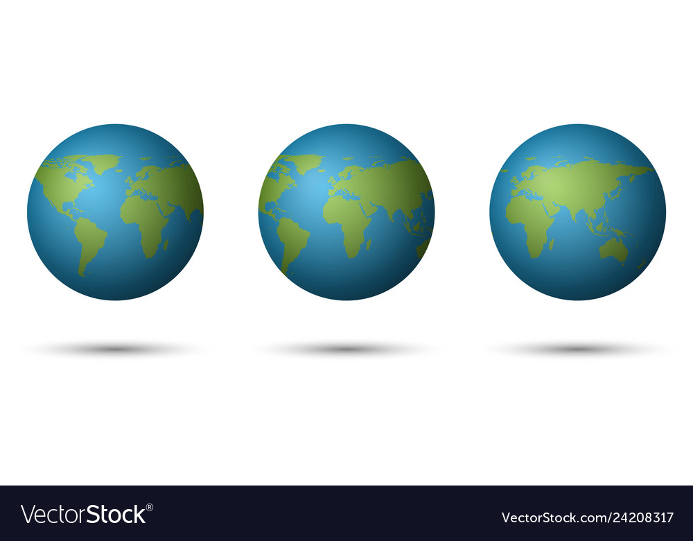 3d planet earth on white background