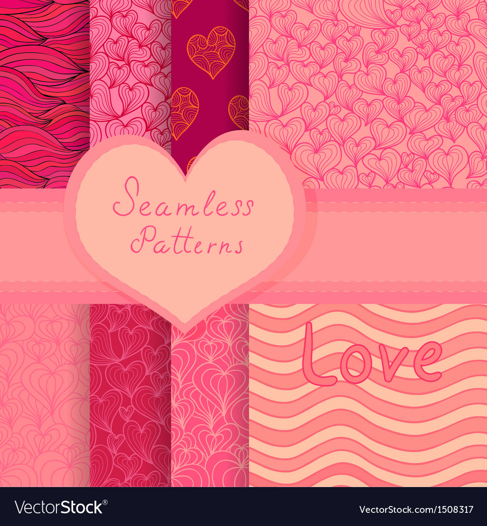 Big seamless patterns set