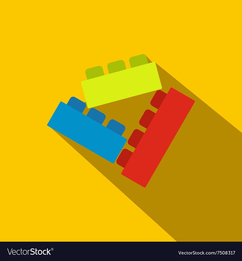 Building bricks flat icon