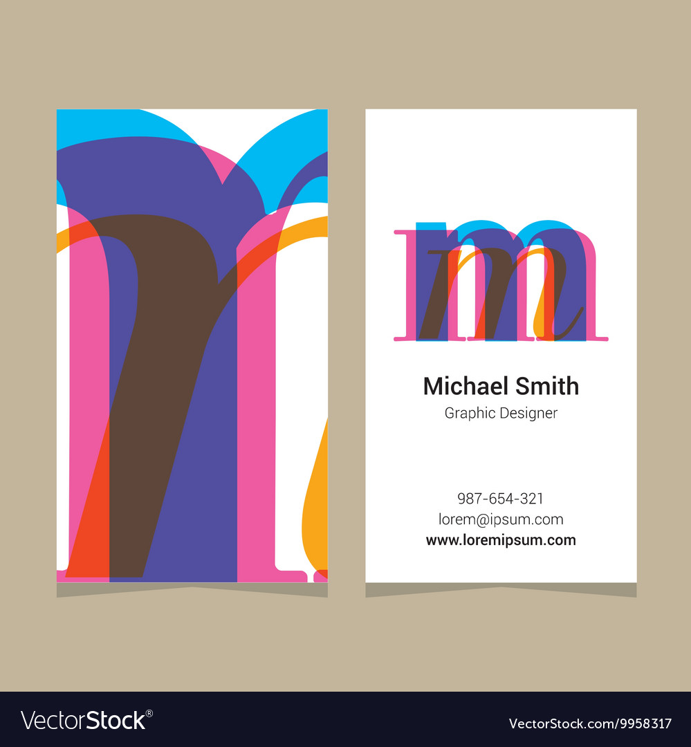 Business card letter M