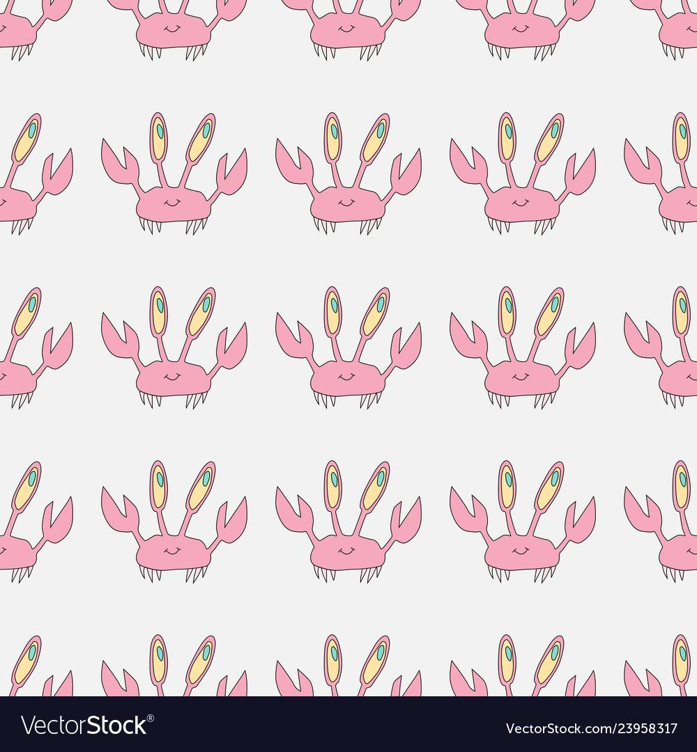 Crab seamless pattern