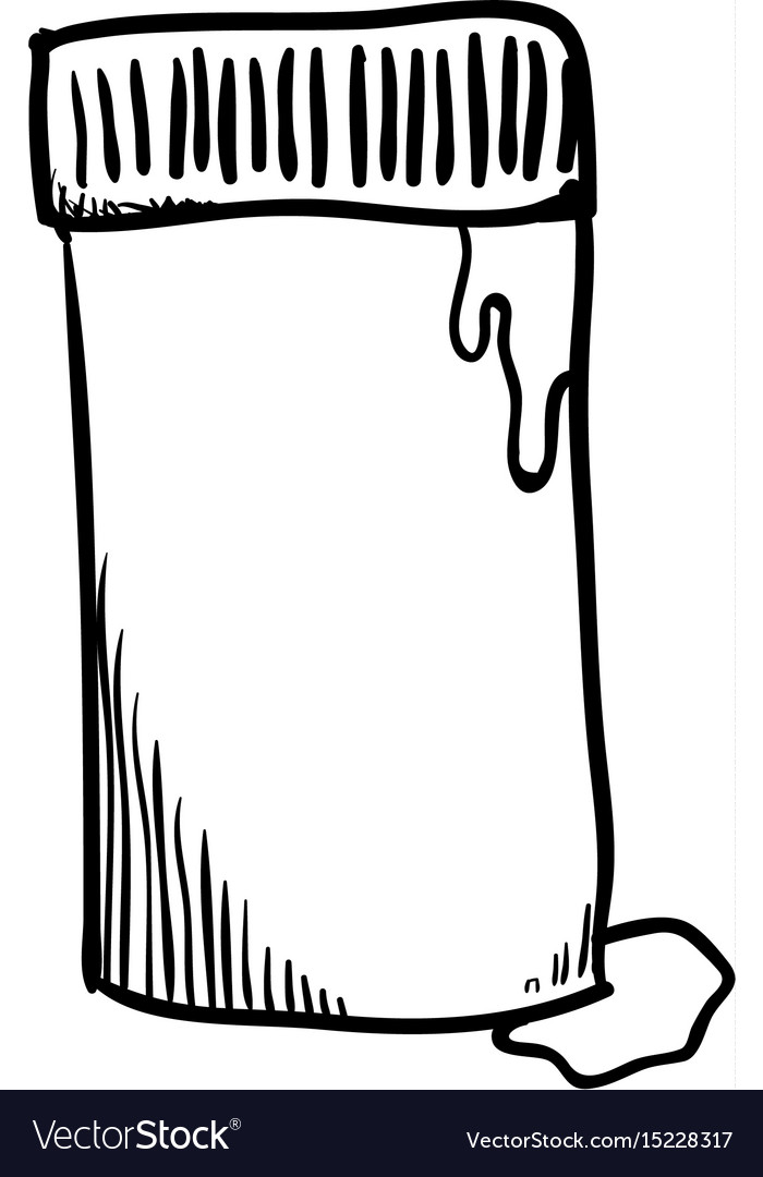 Glue bottle draw vector image