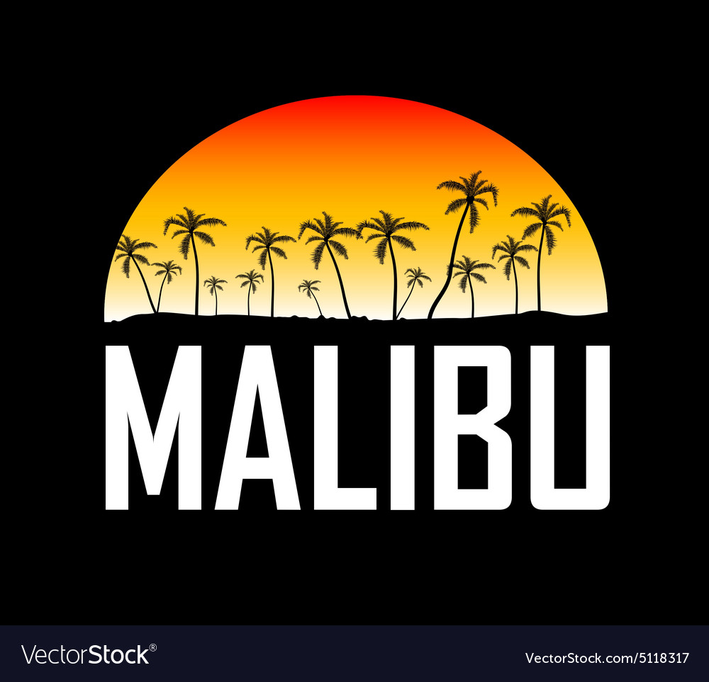 Malibu surf sport typography t-shirt graphics