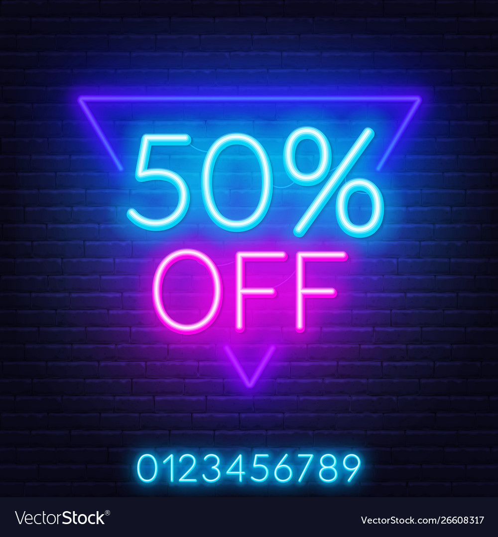 Neon offer template for discount on sale