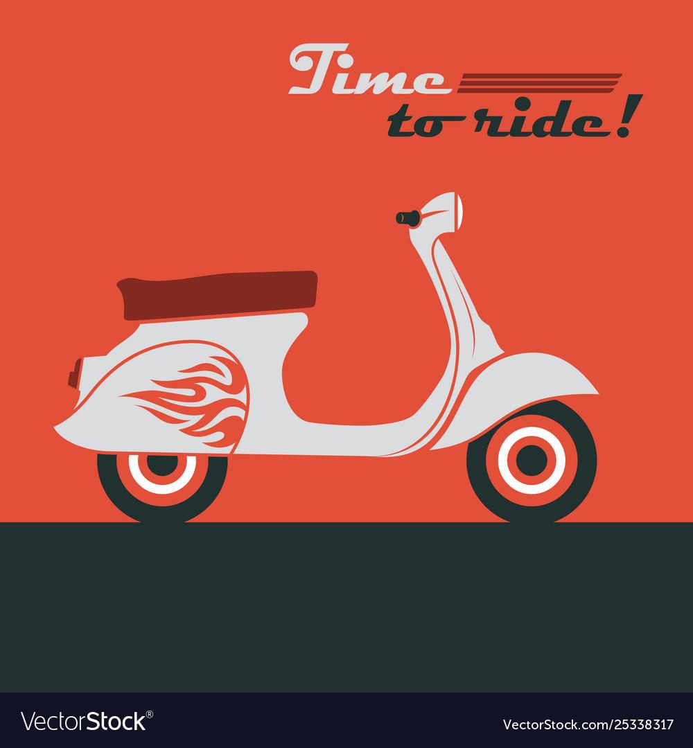Retro scooter image