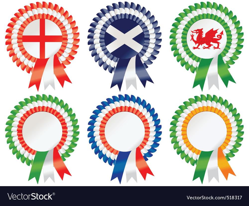 Six nations rosettes