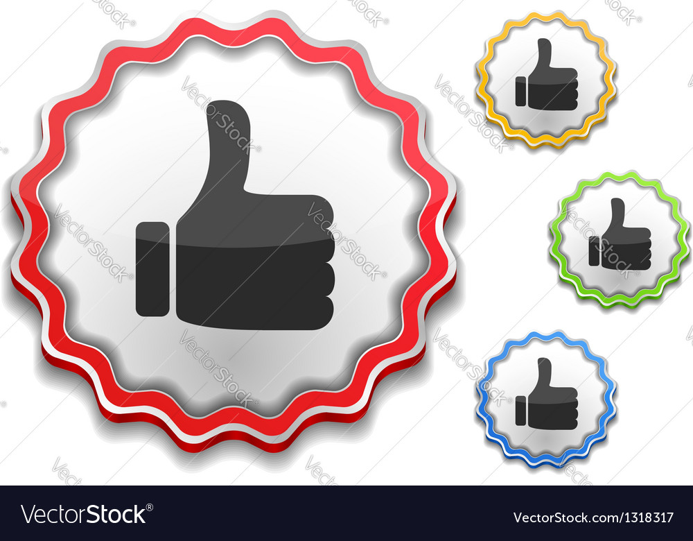 Thumbs Up Symbol vector image